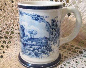 Vintage Westraven Delftware Blue Delft Stein