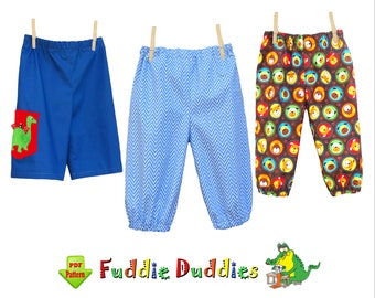 Sewing Pattern for Boys Baby Pants Pattern Infant Pants Pattern, Kids Clothing Sewing Pattern. Child Sewing Pattern. Knit-Woven Fabric Sammy