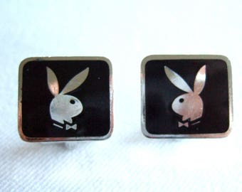 Collectible Playboy Bunny Cuff Links Signed Vintage Memorabilia Radical Gifts For Dad Hot Gifts Just for Him Anniversary Gifts for Husband
