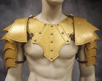 Leather Armor Fantasy Gladiator  Mantle and shoulders