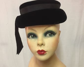 Black Velvet Mary Poppins Hat