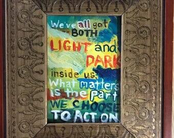 Albus Dumbledore quote painting