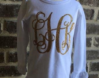 Monogram Ruffle Shirt