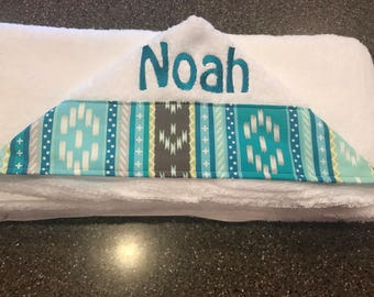 Personalized Monogrammed Custom Burp Cloth & bib for Boys