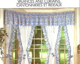 ON SALE Simplicity 9540 House Window Treatment Sewing Pattern, Curtains And Valances, UNCUT