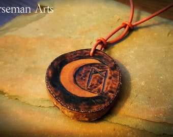 Double sided Sun & Moon rune pendant