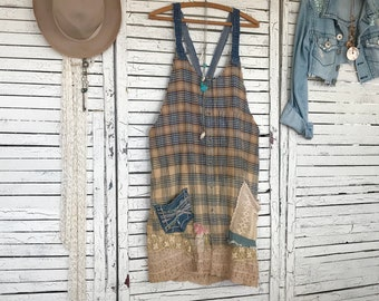 Farmhouse Frock S M L Prairie Chic Dress Or Duster For