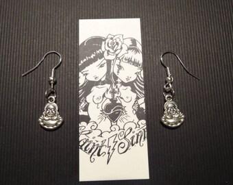 Religion spirit Tierracast silver ♰Bouddha♰ earrings