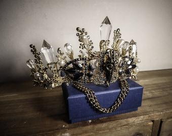 Ormolu Skullbird Crystal Crown