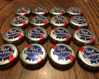 12 PBR Pabst Blue Ribbon Beer Bottle Caps