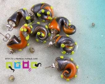 Pumpkin - Tentacle Earrings