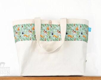 Woodland Animals Large Tote Bag, Canvas Tote, Reusable Shopper Bag, Cotton Tote, Shopping Bag, Eco Tote Bag, Reusable Grocery Bag