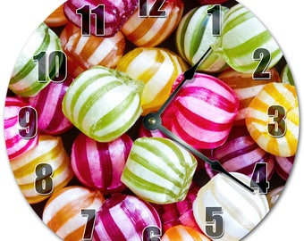 "10.5"" COLORFUL CANDY BALLS Clock - Living Room Clock - Large 10.5"" Wall Clock - Home Décor Clock - 5132"