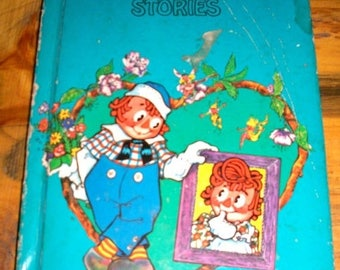 ON SALE Vintage book Raggedy Andys stories by Johnny Gruelle 1948 childrens storybook