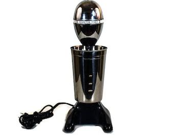 Vintage Hamilton Beach Mixer - Retro Look Milkshake Mixer, Black and Chrome Retro Mid Century Mixer, Smoothie and Milkshake Mixer