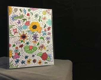 Wildflowers: Original 5 x 7