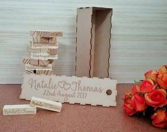 wedding guest book, wedding jenga guest book, wedding blocks, wedding block tower, guest book alternative, jenga blocks wedding, guest book