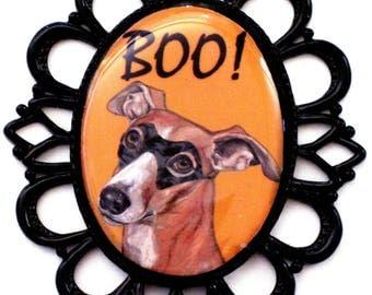 Halloween Whippet Pin