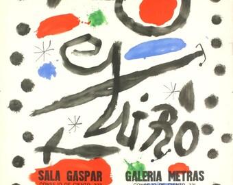 Joan Miro-Sala Gaspar-Galeria Metras-Belarte-1964 Lithograph