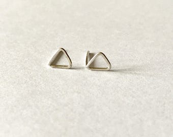 NEW Tiny Sterling silver triangle earrings