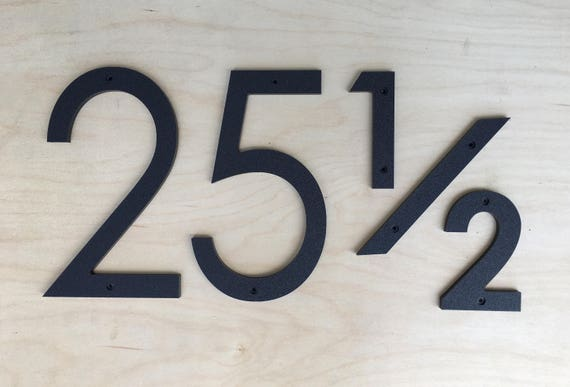 7 inch Modern House Numbers Letters