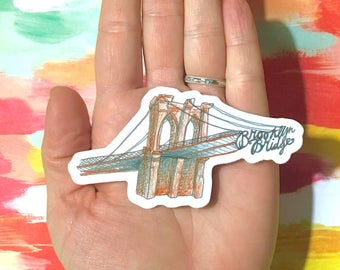 Brooklyn Bridge Sticker - Brooklyn Vinyl Sticker - NYC Sticker