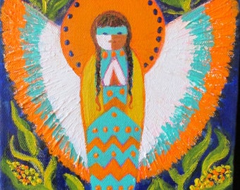 Corn Maiden Angel, Mantel Art box