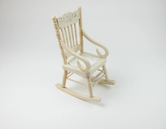 Rocking chair, for the doll parlor, the doll's House, Dollhouse miniatures, cribs, miniatures, Model Building # v 22029