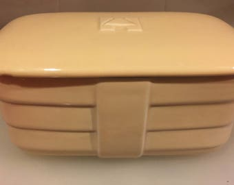 Vintage Hall Pottery Hotpoint  Refrigerator Dish  Art Deco