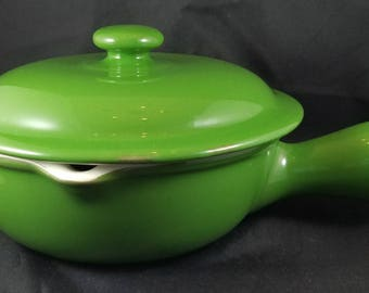 Hall Green Restaurant China Large Covered Baker with Handle and Lip