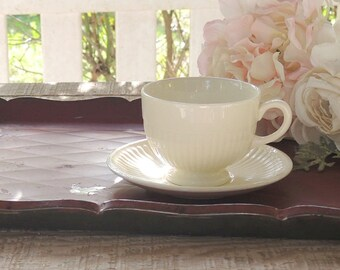 Vintage Wedgwood Edme Creamware Tea Cup and Saucer Set