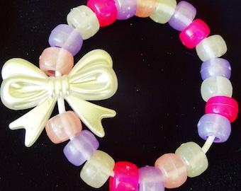 Pastel Bow Kandi Bracelet