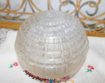 Light Shade Vintage, Vintage Rounded Crystal Looking Lamp Shade ,Light Shade, Vintage Home Decor, Ceiling Light Shade :)s