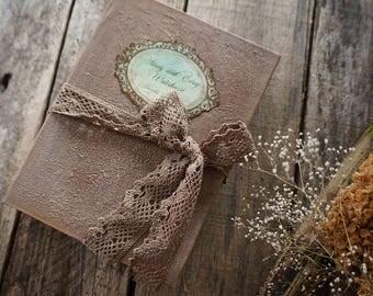Rustic Wedding Guest Book, Rustic Photo album, Custom Wedding Photo Booth album