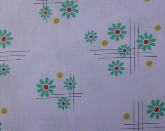 1/2 Yard Cotton Quilting Fabric - Michael Miller Hank and Clementine, Roxy Floral