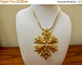 ON SALE TRIFARI Starburst Medallion Necklace with Long Chain Item K # 315