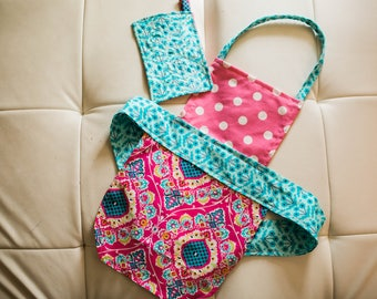Kids apron and play potholder