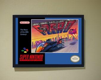 F-Zero Poster Print SNES Super Nintendo A4 A3 Retro