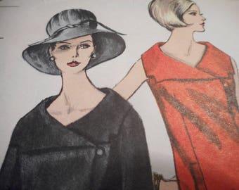 Vintage 1960's Vogue 6327 Dress Sewing Pattern Size 12 Bust 32