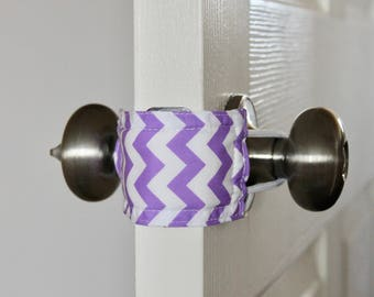 Latchy Catchy in Purple Chevron (Patented)