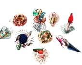 Vintage Foil Holiday Ornaments/ Easter Decorations
