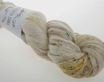 Hand Dyed Lace weight Yarn 'SPECTRE' -  Hand dyed Wool Yarn, Wool Yarn Lace  100g