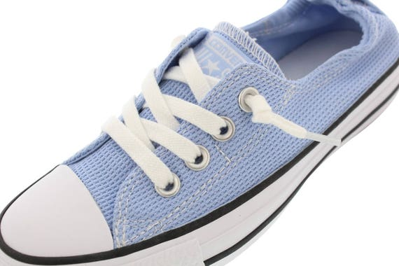 Blue Converse Shoreline Slip on Cool Chill Boat Nautical w/ Swarovski Crystal Rhinestone Jewel Bling Chuck Taylor All Star Sneakers Shoes
