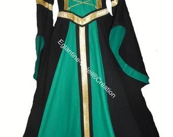 "DRESS medieval ""GLAZIG"" cotton, custom"
