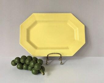1776 Independence Ironstone, Yellow Daffodil 13 Inch Platter, Vintage Octagonal Platter, Castleton China Japan, Mid Century Dinnerware