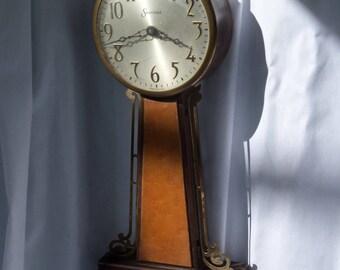 Antique Clock, Banjo Clock, Sessions Clock Co. Made in U.S.A.   1930s ( Wind Up Clock )