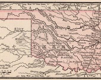 Oklahoma Map Etsy