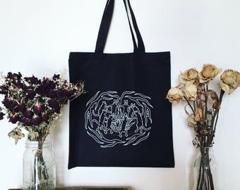 Cat Sabbath Black Tote Bag - Blackwater/Riot The Familar collection