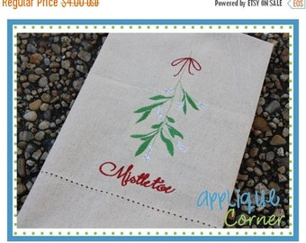 50% Off INSTANT DOWNLOAD Mistletoe embroidery design in digital format for embroidery machine by Applique Corner