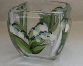 Handpainted Lily of the Valley Dish